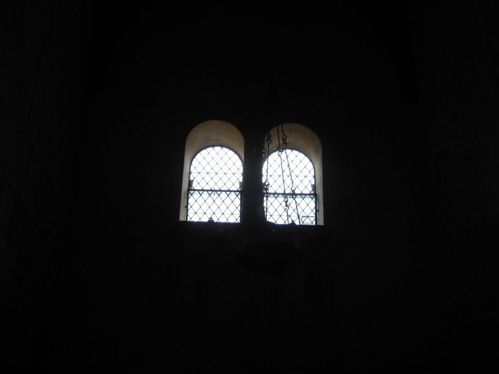 Windows in St Laurence Church Bradford upon Avon