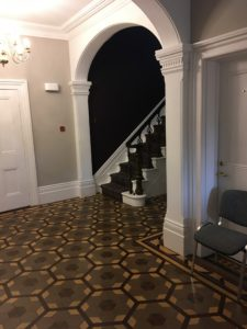 Inside the front door at Park House.