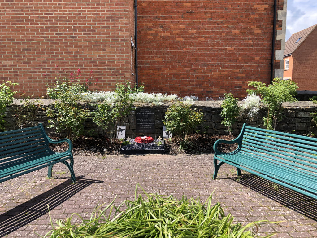 Memorial garden in Swindon's Stratton area for the Canadian airman