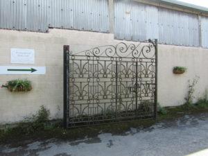 Gates to Honey Street Wharf