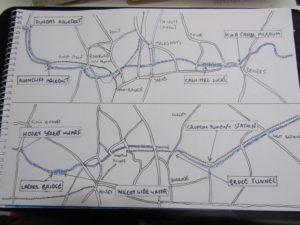 A hand drawn map