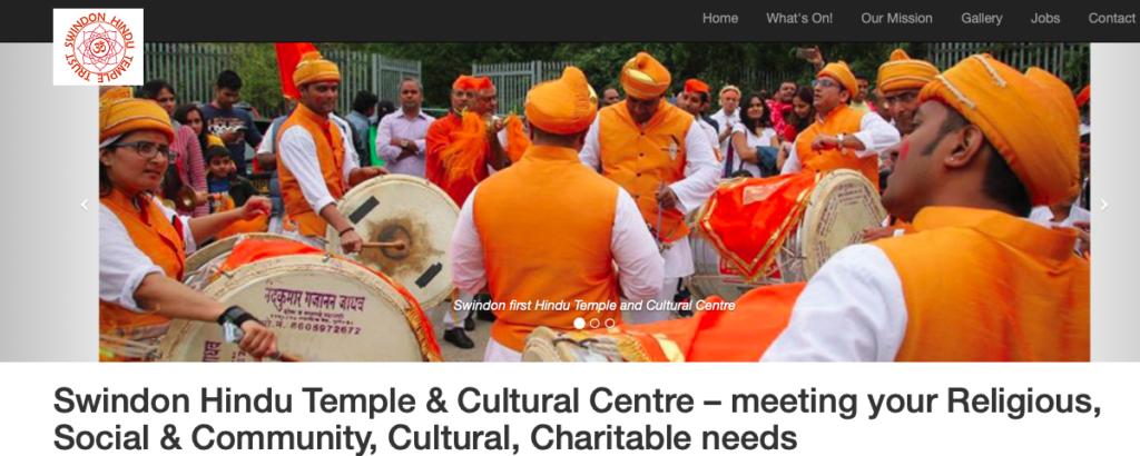 Thieves Target Swindon Hindu Temple - screenshot from Hindu Swindon temple website