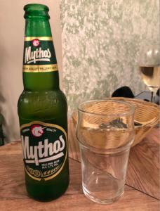 Mythos Hellenic Beer at the Greek Olive