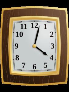 Moving the Clocks - a retro clock face